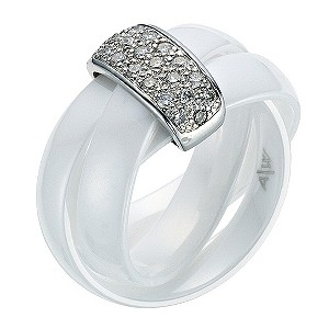 Amanda Wakeley white ceramic diamond ring - Product number 9075550