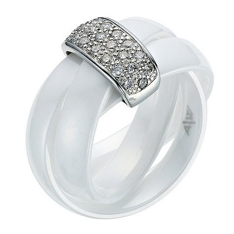 Amanda Wakeley white ceramic diamond ring