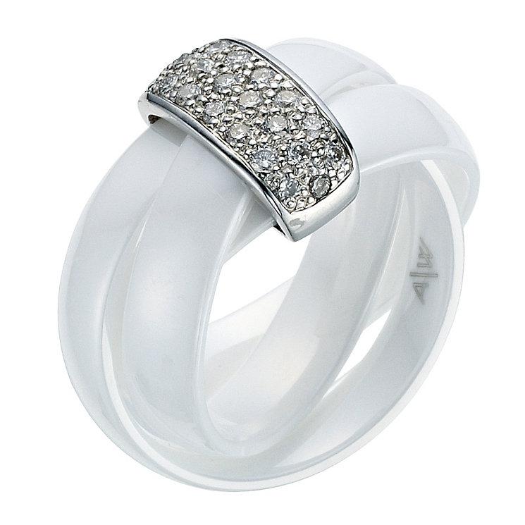 Amanda Wakeley white ceramic diamond ring - Product number 9075550