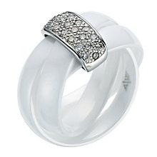 White Ceramic Diamond Ring - Product number 9075550