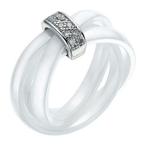 Amanda Wakeley white ceramic diamond
