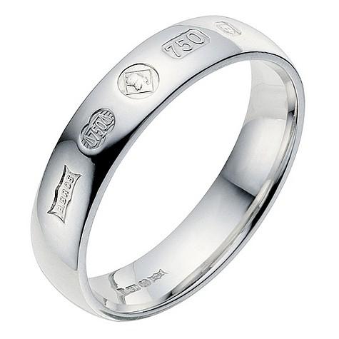 Men's 18ct white gold Jubilee wedding ring