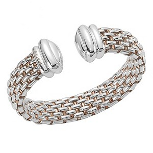 Fope Twin Naos silver bangle - Product number 9078711