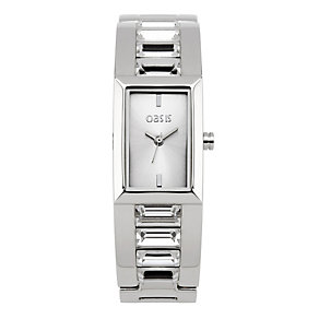 Oasis Ladies' Silver Stone Set Bracelet Watch - Product number 9080724