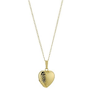 Rolled Gold Etched Heart Locket - Product number 9082212