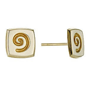 9ct Yellow Gold Swirl Earrings - Product number 9082298