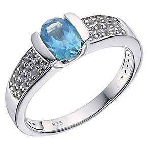 Sterling Silver Topaz Dress Ring - Product number 9083820