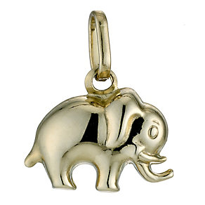9ct Yellow Gold Elephant Charm - Product number 9084169