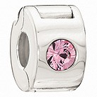 Chamilia silver jewelled lock light rose crystal bead - Product number 9085637