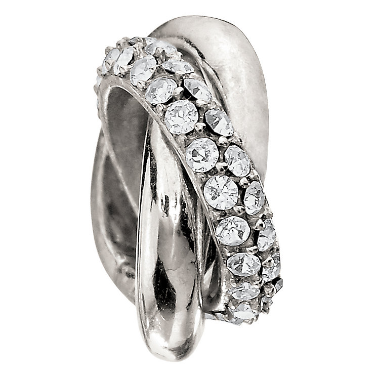 Chamilia silver & crystal rings bead - Product number 9085734