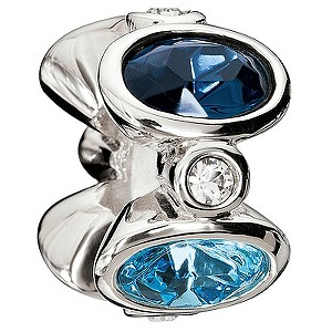 Chamilia silver majestic blue oval bead - Product number 9085785