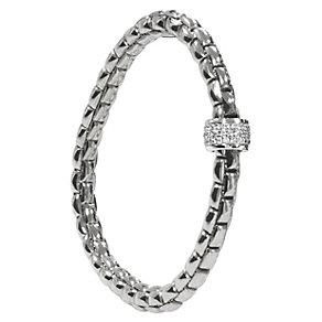Fope Eka Flex 'It 18ct white gold bracelet - Product number 9092307