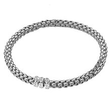 Fope Flex 'It 18ct white gold diamond solo bracelet - Product number 9092382