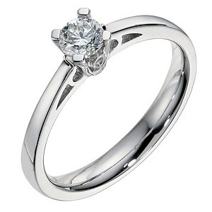 Platinum 0.33 carat brilliant cut ring - Product number 9093826