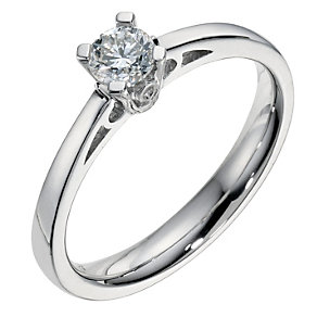Platinum 0.33 carat brilliant cut ring - Product number 9093826