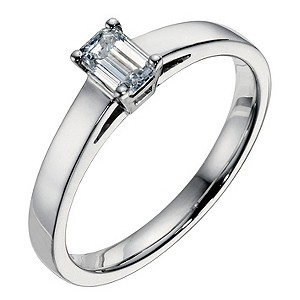 18ct white gold 0.40 carat diamond solitaire ring - Product number 9093966