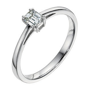18ct white gold 0.23 carat diamond solitaire ring - Product number 9094482