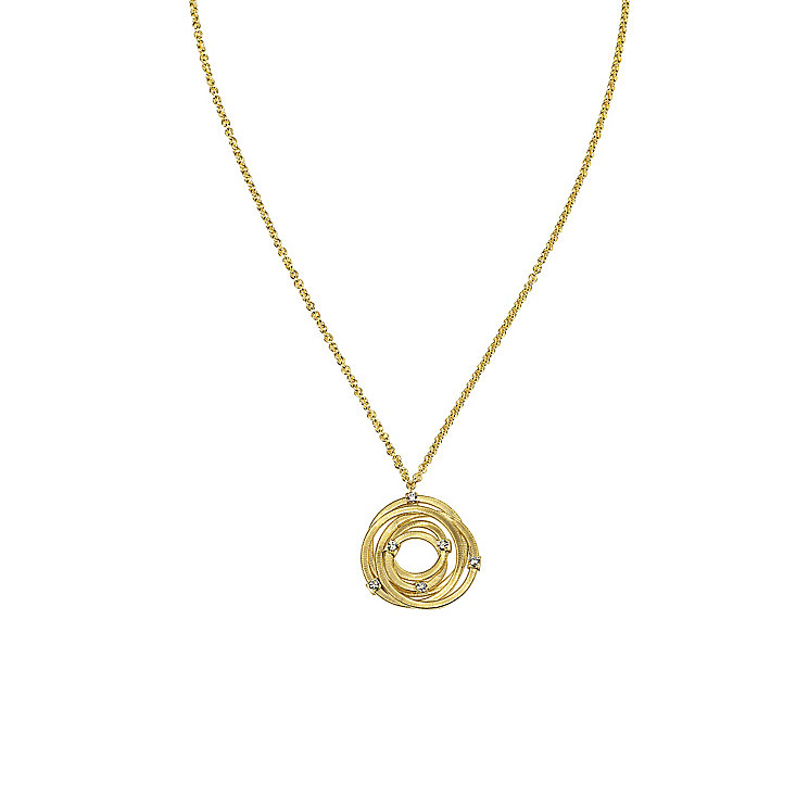 Marco Bicego 18ct yellow gold diamond pendant - Product number 9095810