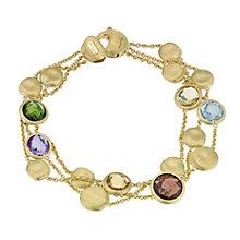 Marco Bicego 18ct gold Jaipur mix three stone bracelet - Product number 9095853