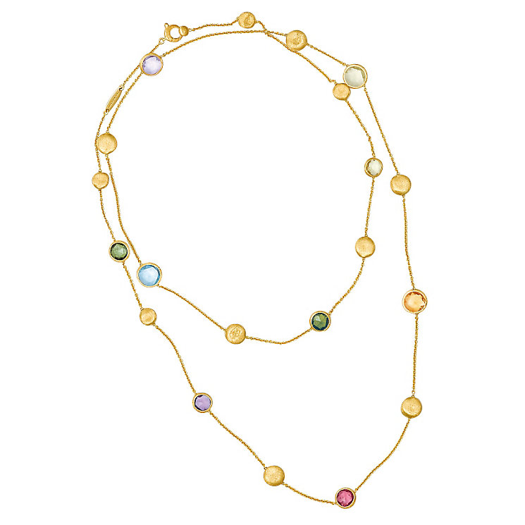 Marco Bicego 18ct yellow gold multi stone necklace - Product number 9095861