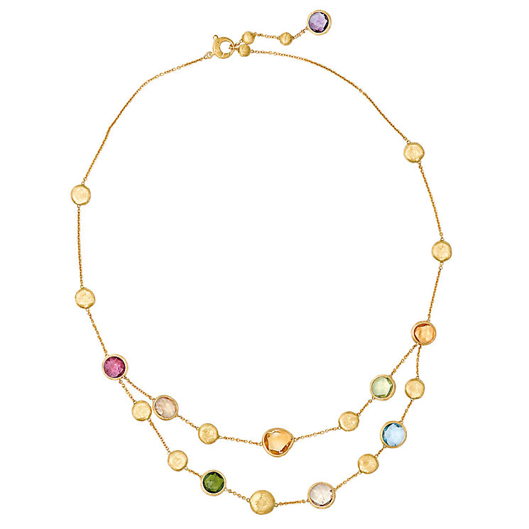 Marco Bicego 18ct yellow gold multi stone necklace - Product number 9095888