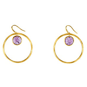Marco Bicego 18ct yellow gold amethyst circle earrings - Product number 9096000