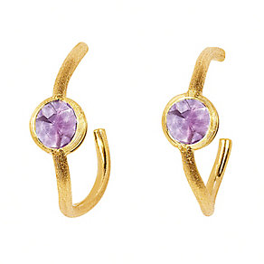 Marco Bicego 18ct yellow gold amethyst hoop earrings - Product number 9096027
