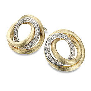 Marco Bicego 18ct yellow gold diamond earrings - Product number 9096124