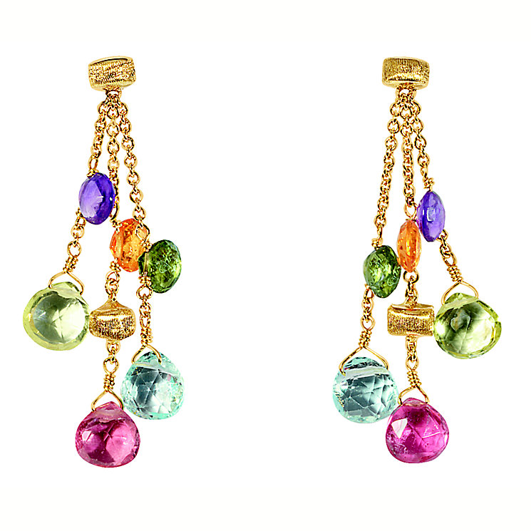 Marco Bicego 18ct yellow gold multi stone earrings - Product number 9096272