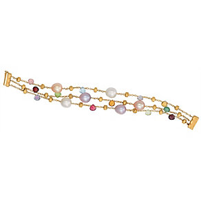 Marco Bicego 18ct yellow gold pearl and multi stone bracelet - Product number 9096299