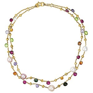 Marco Bicego  Paradise 18ct yellow gold multi stone necklace - Product number 9096310