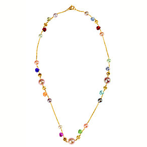 Marco Bicego 18ct yellow gold pearl and multi stone necklace - Product number 9096329