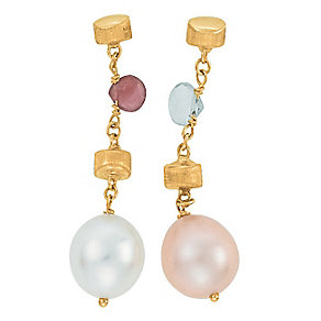 Marco Bicego  Paradise 18ct yellow gold pearl drop earrings - Product number 9096345