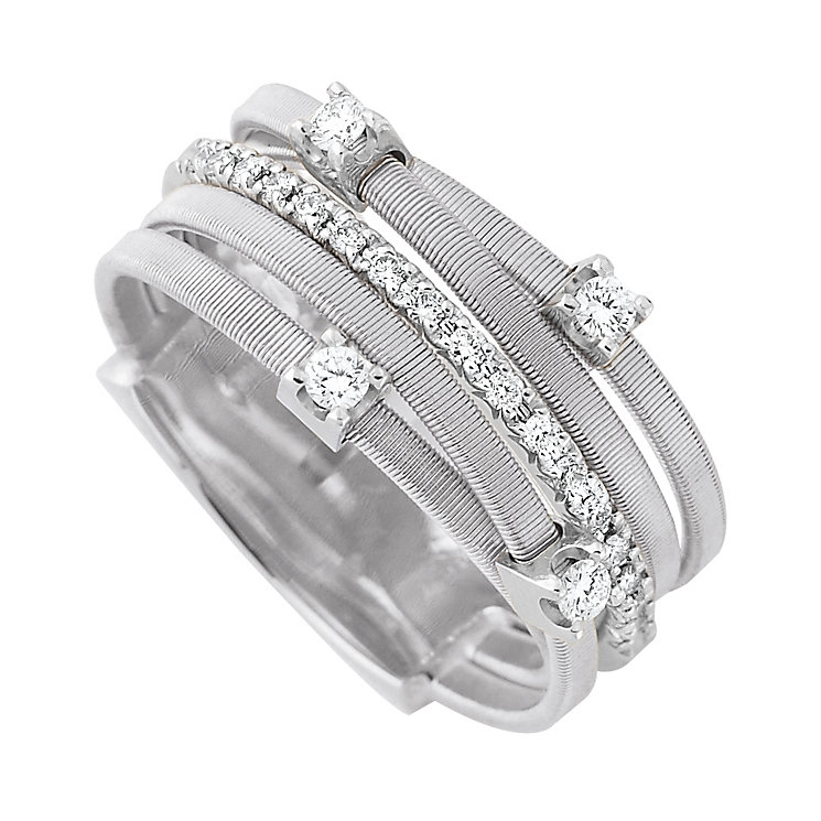 Marco Bicego Goa 18ct white gold 1/4 carat diamond ring - Product number 9096515