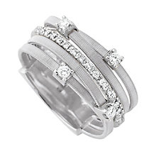 Marco Bicego Goa 18ct white gold 0.25ct diamond ring - Product number 9096515