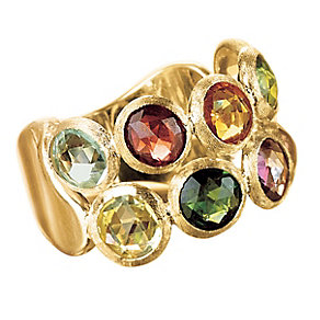 Marco Bicego 18ct yellow gold multi stone ring - Product number 9096809