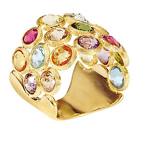 Marco Bicego 18ct yellow gold multi stone ring - Product number 9096930
