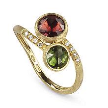 Marco Bicego Jaipur 18ct gold tourmaline & diamond ring - Product number 9097635