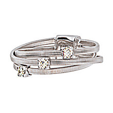 Marco Bicego 18ct white gold three row diamond ring - Product number 9098038