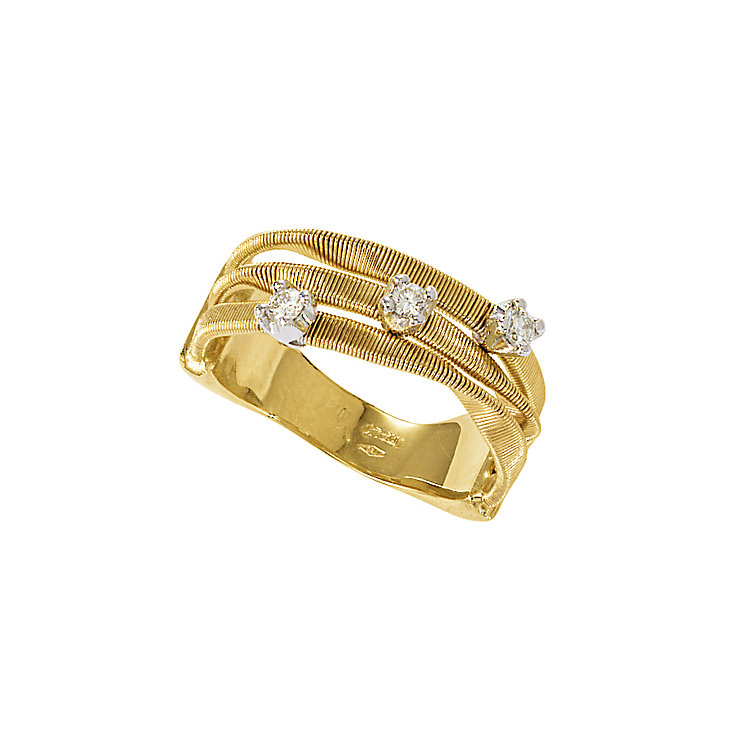 Marco Bicego  Marrakech 18ct yellow gold diamond ring - Product number 9099328