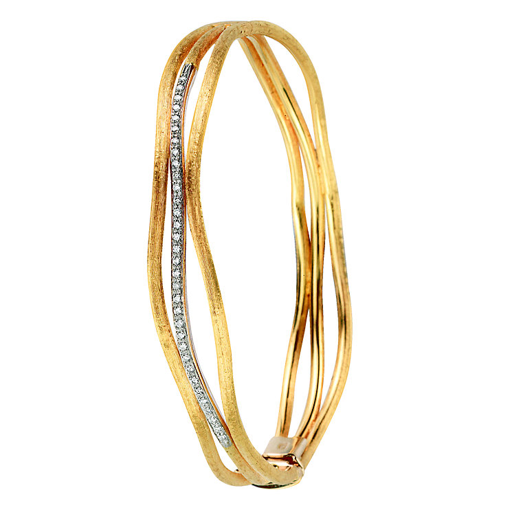 Marco Bicego 18ct yellow gold diamond bangle - Product number 9099441