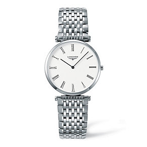 Longines La Grand Classique men's white dial bracelet watch - Product number 9099891