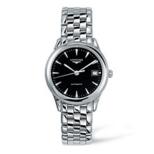 Longines men's black dial stainless steel bracelet watch - Product number 9099948