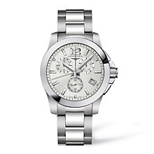 Longines men's stainless steel chronograph watch - Product number 9099999