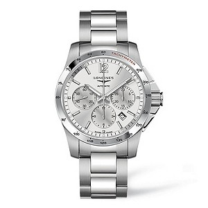 Longines stainless steel bracelet chronograph watch - Product number 9100024