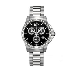 Longines ladies' diamond & stainless steel bracelet watch - Product number 9100121