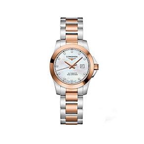 Longines ladies' two colour diamond bracelet watch - Product number 9100164