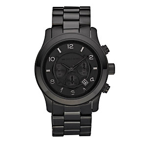 Michael Kors Men's Black Ion Tone Bracelet Watch - Product number 9100725