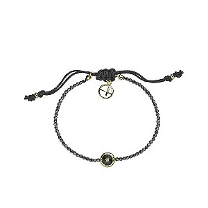 Emporio Armani diamond & hematite beaded bracelet - Product number 9101667