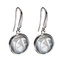 Emproio Armani mother or pearl logo disc drop earrings - Product number 9101845